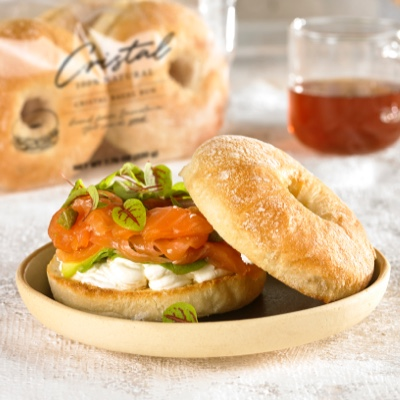 Salmon & Cheese Bagel